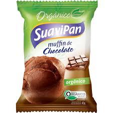 MUFFIN ORGÂNICO DE CHOCOLATE 40GR DISPLAY 12 UN